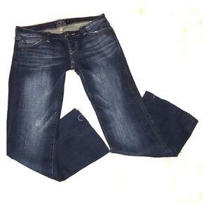 Lucky Brand Lil Maggie bootcut frayed Jeans 25A